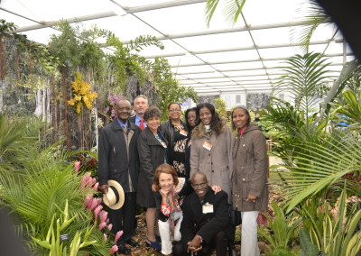 The BHS team to the RHS Chelsea Flower Show 2015, with Barbados High Commission members
