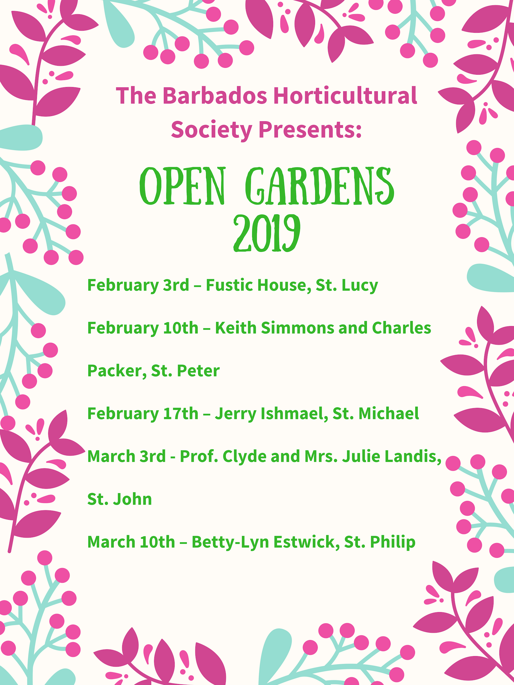 Barbados horticultural society presents_