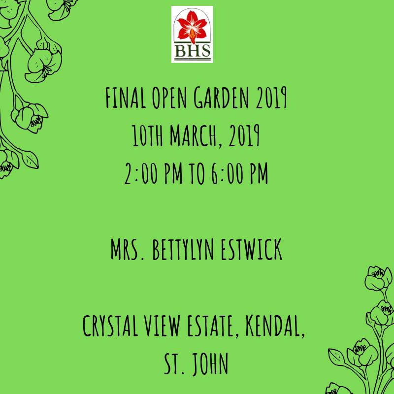 Final Open Garden